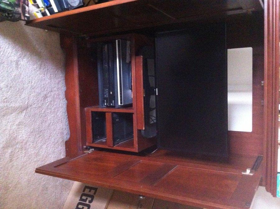 Free Cherry Wood Media Cabinet