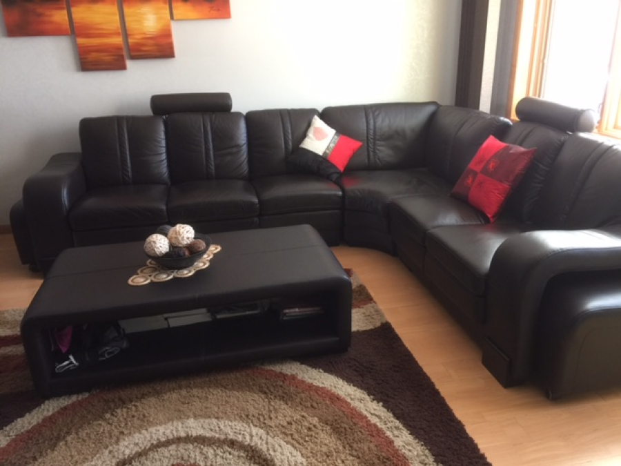 Excellent condition corner living room set and coffee