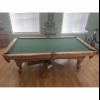Pool table chairs rack cues balls offer Sporting Goods